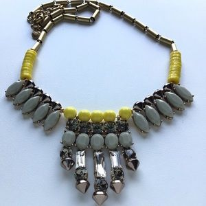 J. Crew Crystal Canary Yellow Statement Necklace